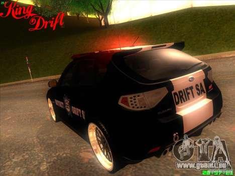 Subaru Impreza WRX Police für GTA San Andreas Seitenansicht