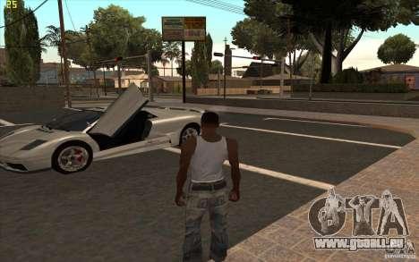 Infernus de GTA 4 pour GTA San Andreas laissé vue