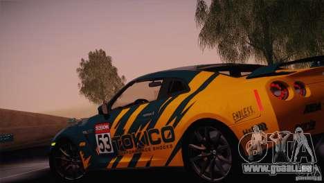 Nissan GTR Black Edition pour GTA San Andreas vue de côté