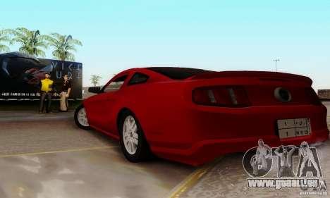 Ford Mustang 2010 pour GTA San Andreas laissé vue