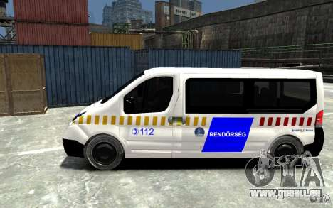 Opel Vivaro Hungarian Police Van für GTA 4 linke Ansicht