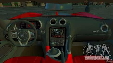 Dodge Viper GTS 2013 für GTA 4 Innenansicht