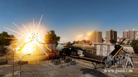 Ein Hubschrauber mit einem RPG für GTA 4 linke Ansicht