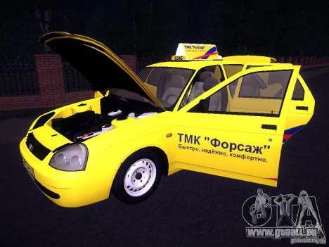 LADA Priora 2170 Taxi TMK Nachbrenner für GTA San Andreas Unteransicht