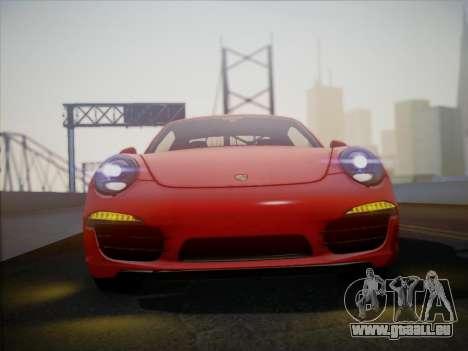 Porsche 911 (991) Carrera S pour GTA San Andreas sur la vue arrière gauche