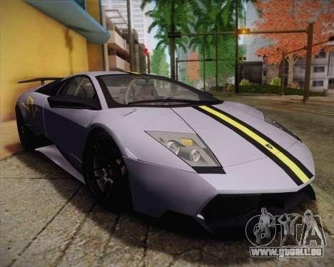 Lamborghini Murcielago LP 670/4 SV Fixed Version pour GTA San Andreas vue arrière