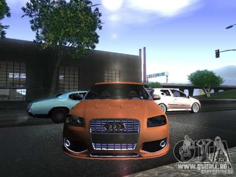 Audi S3 pour GTA San Andreas sur la vue arrière gauche