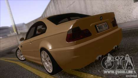 BMW M3 E48 für GTA San Andreas zurück linke Ansicht