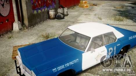 Dodge Monaco 1974 (bluesmobile) für GTA 4 Seitenansicht
