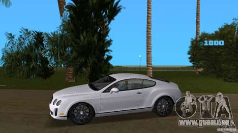 Bentley Continental Supersport für GTA Vice City linke Ansicht