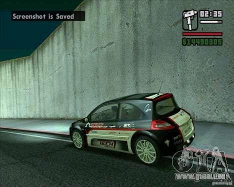 Renault Megane II RS pour GTA San Andreas laissé vue