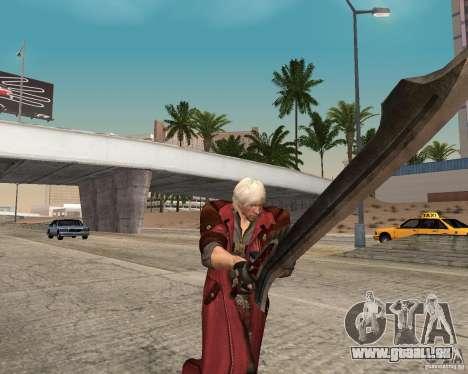 Nero sword from Devil May Cry 4 pour GTA San Andreas deuxième écran