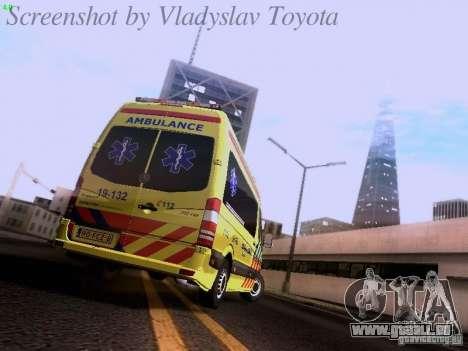 Mercedes-Benz Sprinter Ambulance pour GTA San Andreas vue de droite