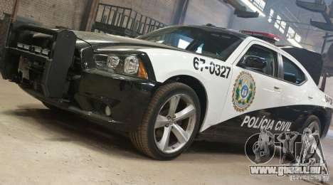 Dodge Charger Policia Civil from Fast Five für GTA San Andreas Rückansicht