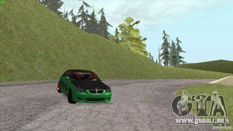 BMW M5 E60 Darius Balys für GTA San Andreas obere Ansicht