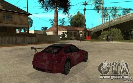 BMW M3 2009 pour GTA San Andreas vue de droite
