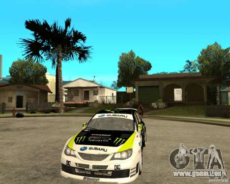 Ken Block Subaru Impreza WRX STi 2009 pour GTA San Andreas vue arrière