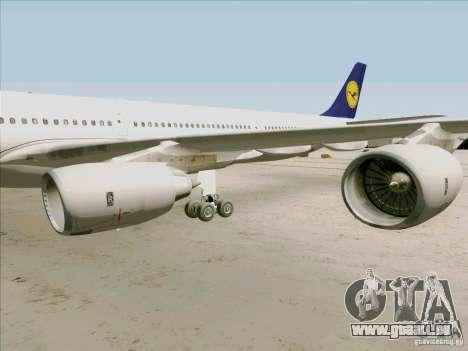 Airbus A-340-600 Lufthansa pour GTA San Andreas vue arrière