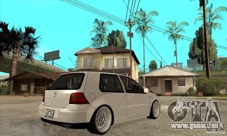 VW Golf 4 V6 Bolf pour GTA San Andreas vue de droite