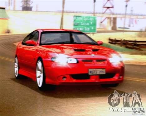 Vauxhall Monaro VXR pour GTA San Andreas sur la vue arrière gauche