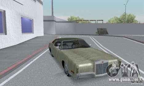 Lincoln Continental Mark IV 1972 pour GTA San Andreas vue de dessus