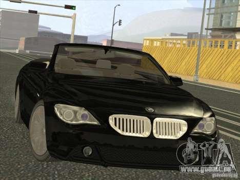 BMW 650I pour GTA San Andreas vue arrière