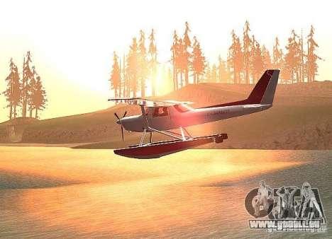 Cessna 152-Wasser-option für GTA San Andreas linke Ansicht