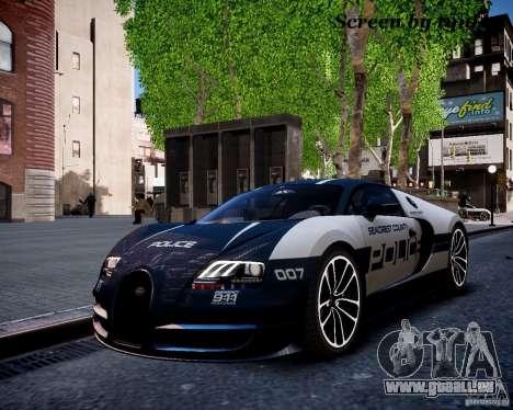 Bugatti Veryon SS COP pour GTA 4 est une vue de l'intérieur