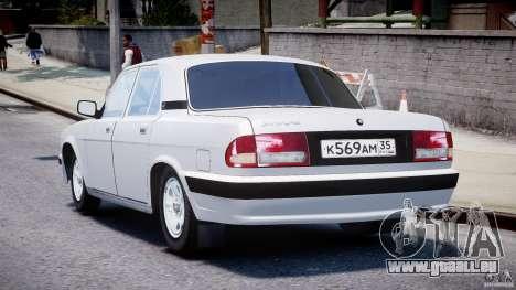 GAZ 31105 für GTA 4 hinten links Ansicht
