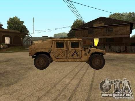 War Hummer H1 pour GTA San Andreas laissé vue