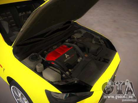 Mitsubishi Lancer Evo X Tunable für GTA San Andreas Rückansicht