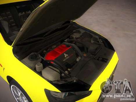 Mitsubishi Lancer Evo X Tunable pour GTA San Andreas vue arrière