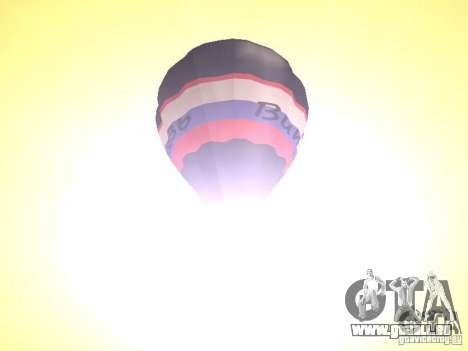 Ballon Vitiaz pour GTA San Andreas vue arrière