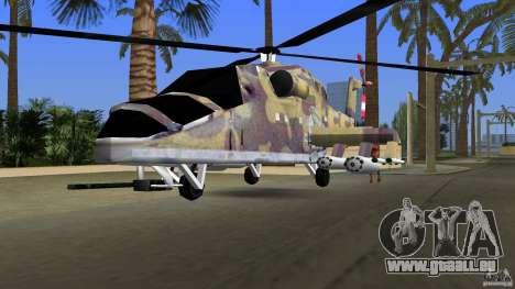 Mi-24 HindB pour GTA Vice City vue arrière