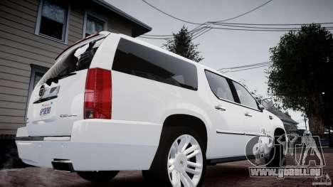 Cadillac Escalade ESV pour GTA 4 Vue arrière de la gauche