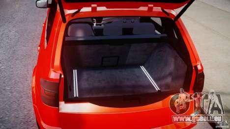 BMW X5M Chrome pour GTA 4 Vue arrière