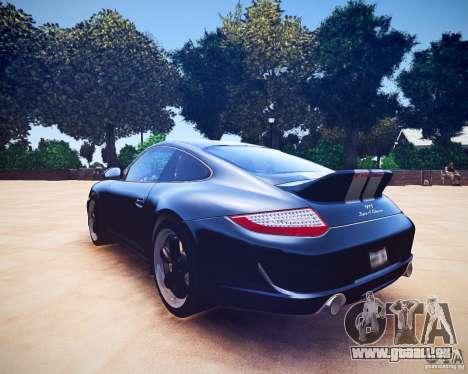 Porsche 911 Sport Classic 2011 v2.0 für GTA 4 Rückansicht