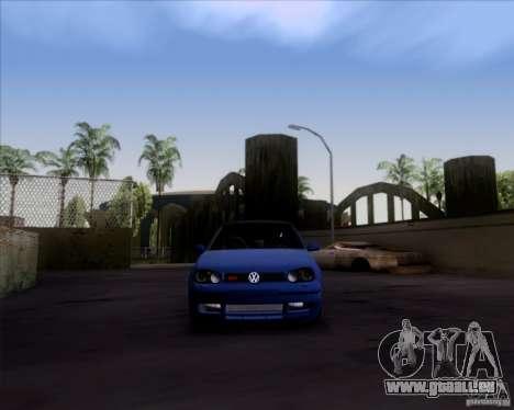 Volkswagen Golf GTi 2003 pour GTA San Andreas sur la vue arrière gauche