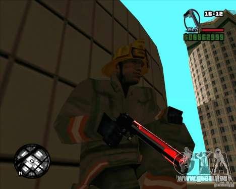 Chrome black red gun pack pour GTA San Andreas quatrième écran