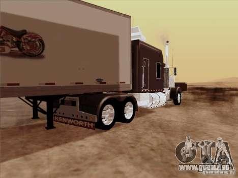 Kenworth W900 Long pour GTA San Andreas vue de droite