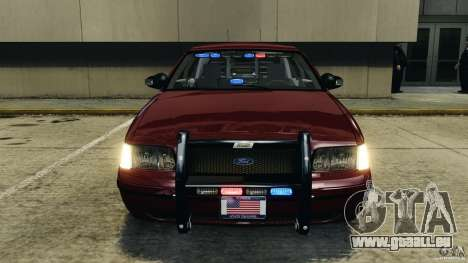 Ford Crown Victoria Police Unit [ELS] für GTA 4 obere Ansicht