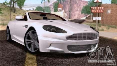 Aston Martin DBS Volante 2009 pour GTA San Andreas sur la vue arrière gauche