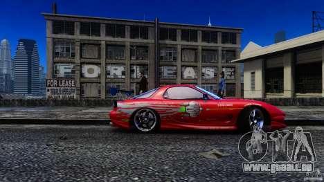 Mazda RX-7 FnF pour GTA 4 Vue arrière de la gauche