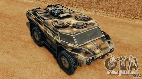 Armored Security Vehicle für GTA 4 Innen