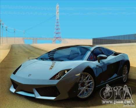 Lamborghini Gallardo LP560-4 pour GTA San Andreas sur la vue arrière gauche