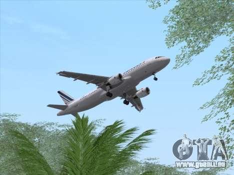 Airbus A320-211 Air France für GTA San Andreas Seitenansicht