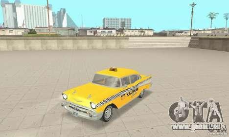 Chevrolet Bel Air 4-door Sedan Taxi 1957 pour GTA San Andreas