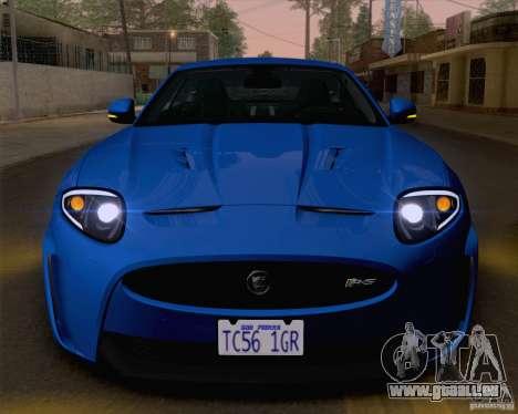 Jaguar XKR-S 2012 pour GTA San Andreas vue de côté