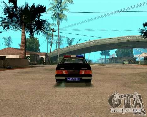 VAZ 2115 DPS pour GTA San Andreas vue de droite