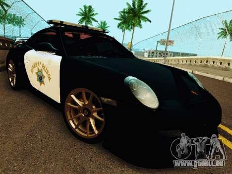 Porsche 911 GT2 RS (997) Police pour GTA San Andreas laissé vue